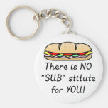 Teacher Appreciation Gift -Funny Sub Teacher Quote Basic Round Button Keychain