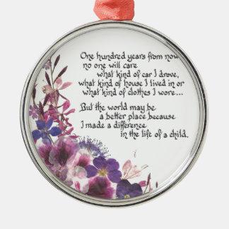 Teacher Appreciation Gift Metal Ornament