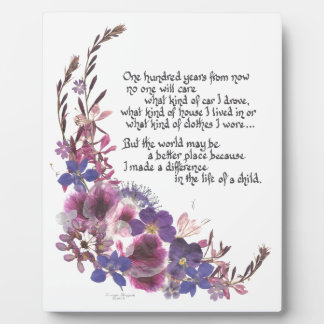 Teacher Appreciation Gift Plaque