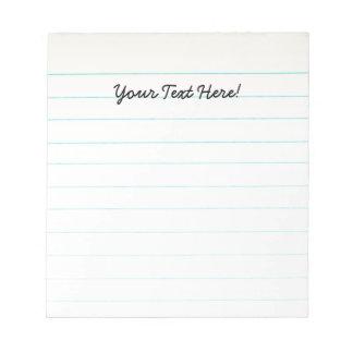 Teacher Appreciation Notebook Paper Notepad