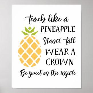 Teacher Appreciation Pineapple Summer School Poster