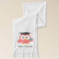Teacher Appreciation, Pink Wise Owl Scarf