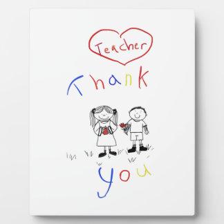 Teacher appreciation plaque