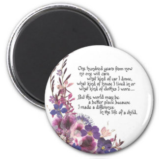 Teacher Appreciation Poem 2 Inch Round Magnet
