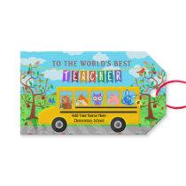 Teacher Appreciation Thank You | Cute Bus Animals Gift Tags