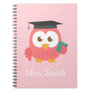 Teacher Appreciation, Thank You Owl Spiral Note Books