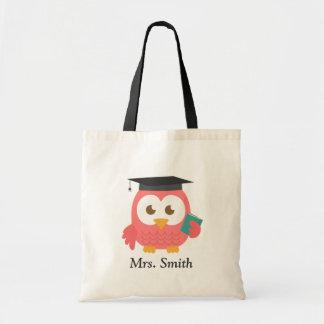 Teacher Appreciation, Thank You Pink Owl Tote Bag