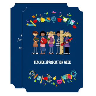 Teacher Appreciation Week. Custom Flat Cards