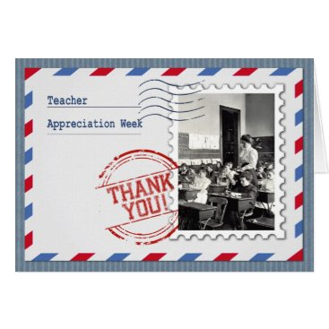 Beach Themed Teacher Appreciation Week  Custom Greeting Cards