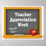 Teacher Appreciation Week Poster, Thank You !