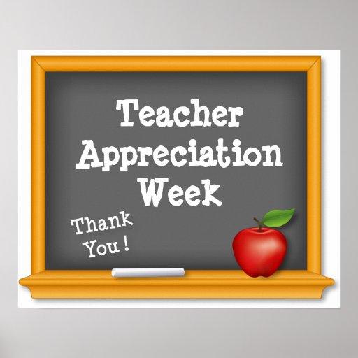 Teacher Appreciation Week Poster, Thank You !   Zazzle