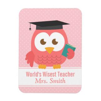 Teacher Appreciation, World Wisest Teacher Owl Magnet
