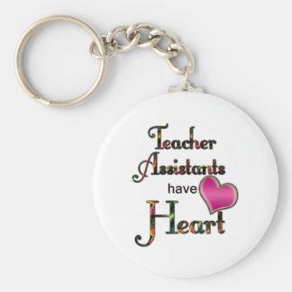 Teacher Assistants Have Heart Basic Round Button Keychain