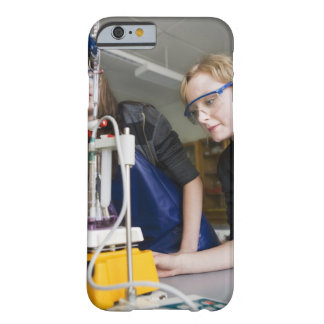 Teacher assisting student in laboratory barely there iPhone 6 case
