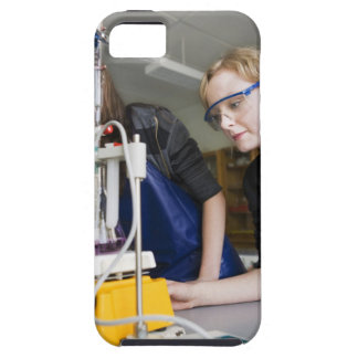 Teacher assisting student in laboratory iPhone SE/5/5s case
