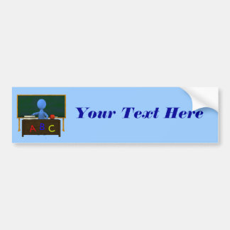 Teacher at Desk Bumper Sticker