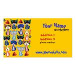 teacher,baby sitter profile card business card template