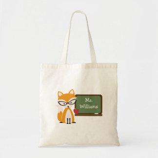 Teacher Bag - Fox At Chalkboard