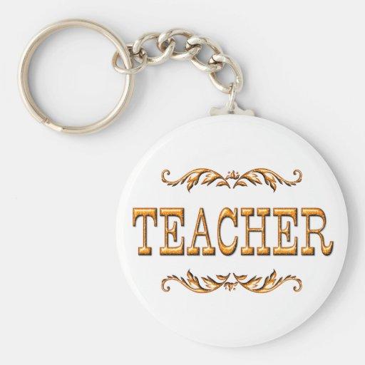 TEACHER BASIC ROUND BUTTON KEYCHAIN