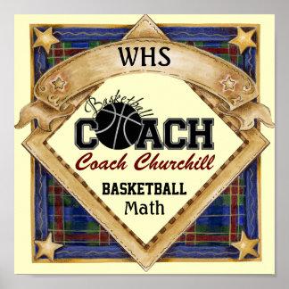 Teacher Basketball Coach Sign - Door Poster - SRF