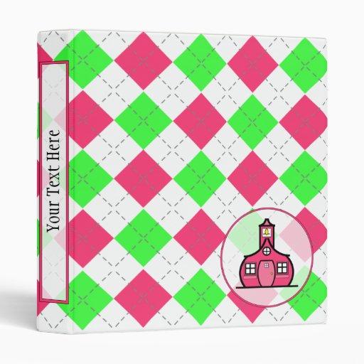 Teacher Binder - Hot Pink & Green