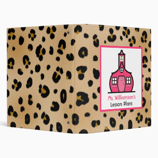 Teacher Binder - Leopard Print & Pink