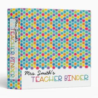 Teacher Binder - Rainbow Honeycomb Vinyl Binders