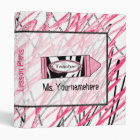 Teacher Binder - Zebra Print Crayon