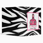 Teacher Binder - Zebra Print & Pink