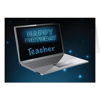 Teacher Birthday Computer, Technology, From Group, Card