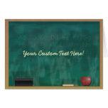 Teacher Blackboard Custom Card
