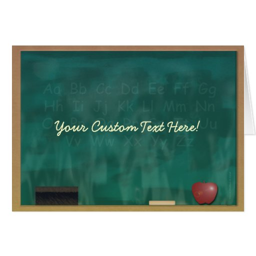 Teacher Blackboard Custom Card Greeting Card