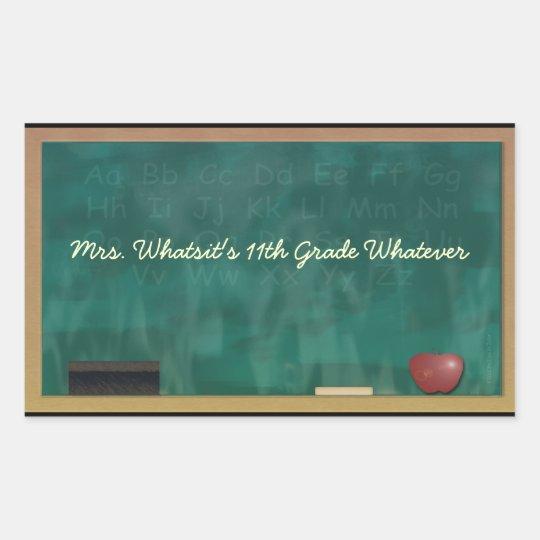 Teacher Blackboard Custom Sticker