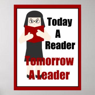 Teacher Book Lover Gal 2 Leader Poster