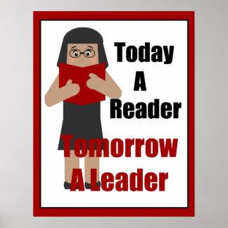 Teacher Book Lover Gal Leader Poster