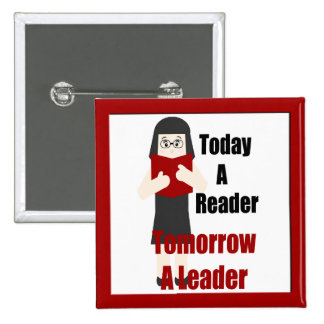 Teacher Book Lover Gal  Reader Leader Button 1
