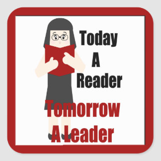 Teacher Book Lover Gal Reader Leader Sticker 1