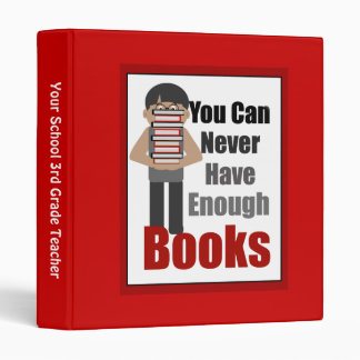 Teacher Book Lover Red Binder 1