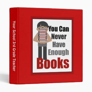 Teacher Book Lover Red Binder 1