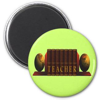 Teacher (books) 2 inch round magnet