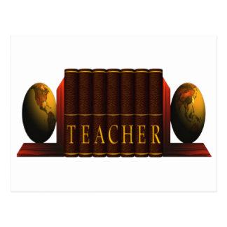 Teacher (books) postcard