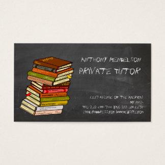Teacher bookseller editor business card