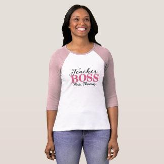 Teacher Boss Pink Raglan Tee