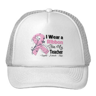 Teacher - Breast Cancer Pink Ribbon Trucker Hat