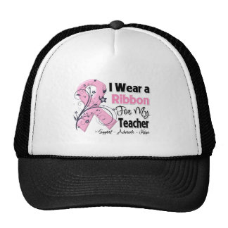 Teacher - Breast Cancer Pink Ribbon Mesh Hats