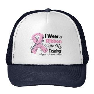 Teacher - Breast Cancer Pink Ribbon Mesh Hat