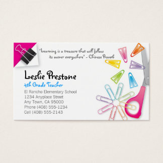 Teacher Student Business Cards Templates Zazzle