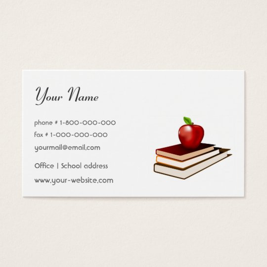 Teacher Business Card