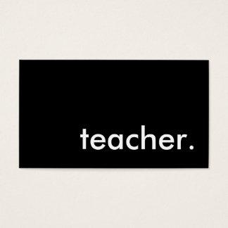 teacher. business card