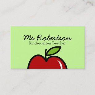 Teacher Business Cards Zazzle - Teacher business card template